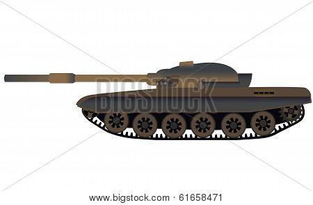 Russian Tank T-72 Side View