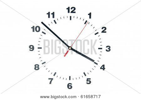 Dial of the clock isolated on white background