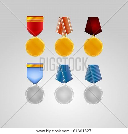 Illustration of medals