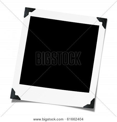 Polaroid blank photo.