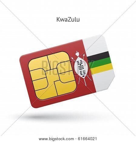 KwaZulu mobile phone sim card with flag.