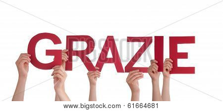 People Holding Grazie