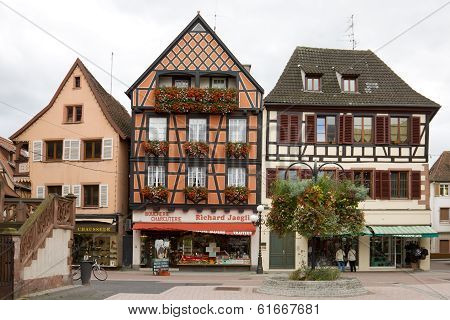 The Beautiful Half-timbered Houses In Selestat