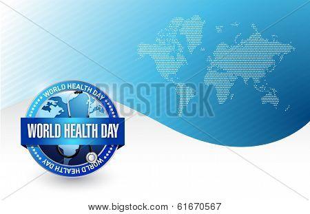 World Health Day Illustration Design