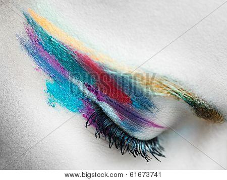Surreal eye close-up
