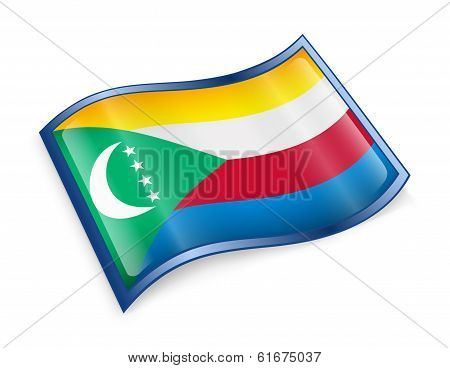 Comoros Flag Icon.