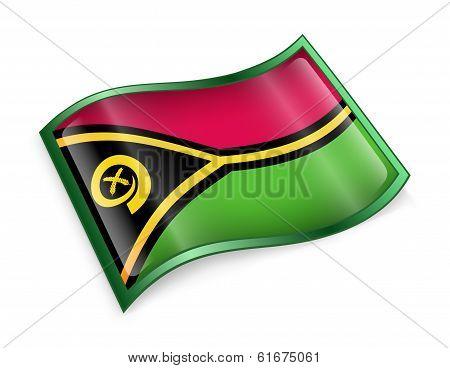 Vanuatu Flag Icon.