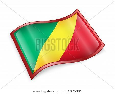 Republic Of The Congo Flag Icon.