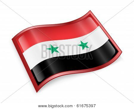 Syrian Flag Icon.