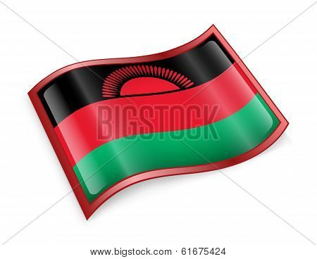 Malawi Flag Icon.