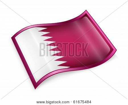 Qatar Flag Icon.