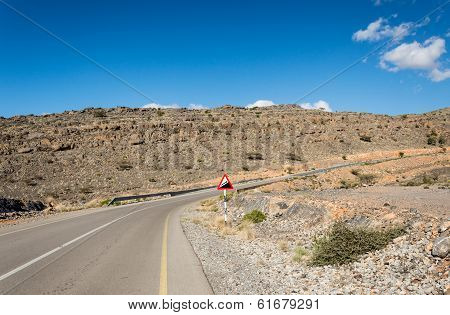 Ascending mountain road