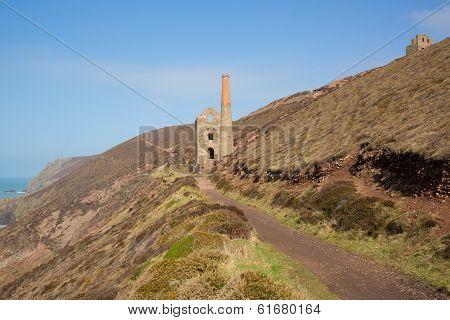 Cornish tin mine England UK