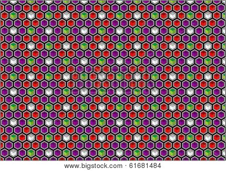Background Of Hexagons And Cubes
