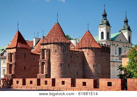 Barbican In Warsaw City