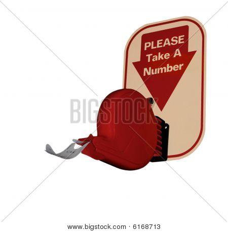 Take a number - ticket dispenser