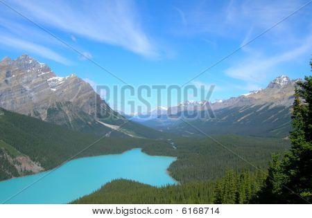 kanadische Rockies Bow summit
