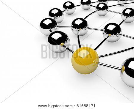 Metaphor of communication. Concept. 3d illustration
