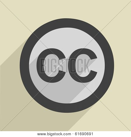 minimalistic illustration of a creative commons icon, eps10 vector
