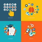 stock photo of time study  - Icons for education - JPG