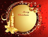 stock photo of merry christmas  - Vector Merry Christmas background with stars and lines - JPG