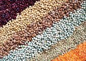 foto of legume  - View of detail  different colored legumes vertical - JPG