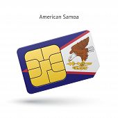 image of samoa  - American Samoa mobile phone sim card with flag - JPG