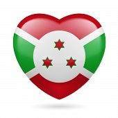 stock photo of burundi  - Heart with Burundian flag colors - JPG