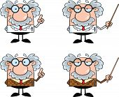 foto of physicist  - Funny Scientist Or Professor Different Poses 3  Collection Set - JPG