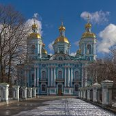 pic of sankt-peterburg  - Nikolsky Cathedral on a sunny spring day Sankt - JPG