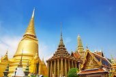 stock photo of emerald  - Wat Phra Kaew Temple of the Emerald Buddha - JPG