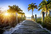 stock photo of key  - way to the beach in Key West Miami Floride USA - JPG