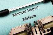 picture of malaria parasite  - Close up of Medical Report of Malaria - JPG