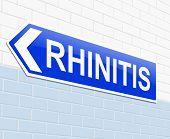 foto of rhinitis  - Illustration depicting a sign with a Rhinitis concept - JPG