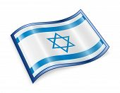 picture of israeli flag  - Israeli Flag icon isolated on white background - JPG