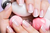 image of french manicure  - Beautiful woman - JPG