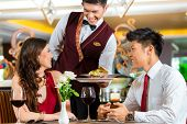 stock photo of chinese restaurant  - Asian Chinese couple  - JPG