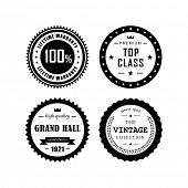 Retro labels, top class,vintage, grand hall