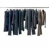 picture of habilis  - Set of female dress and trousers isolated on hanging - JPG