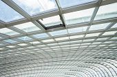 pic of roof-light  - interior of office building with metal and glass roof - JPG