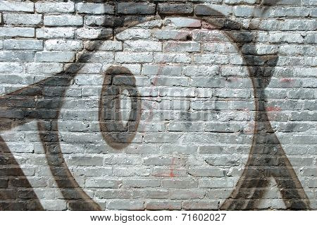 Graffiti On Brick Wall In Poznan, Poland