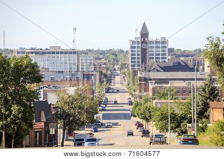 Downtown Of Sioux Fall, South Dakota.