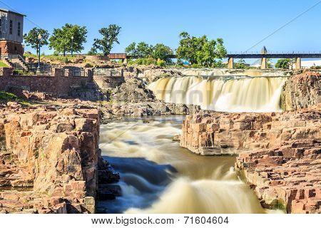 Waterfalls In Sioux Falls, South Dakota, Usa
