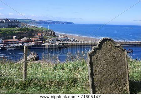 Gravestone by the sea