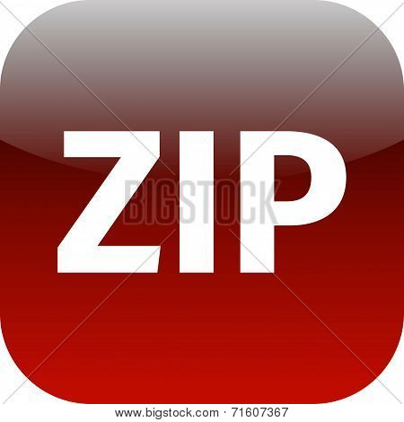 Archive Zip Red Icon For Apps
