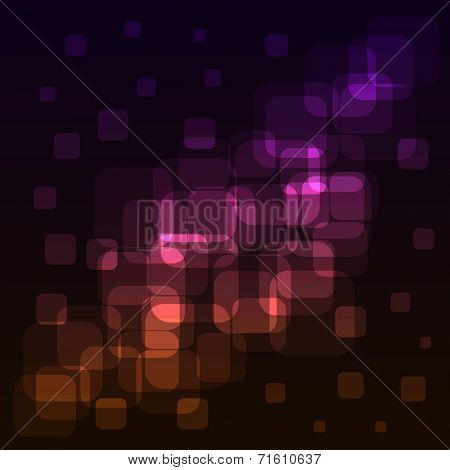 Abstract rounded squares colorful lights background.