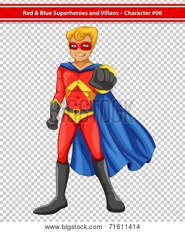 Illustration of a male superhero