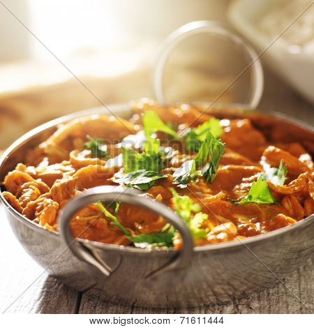 indian curry - chicken tikka masala in balti dish