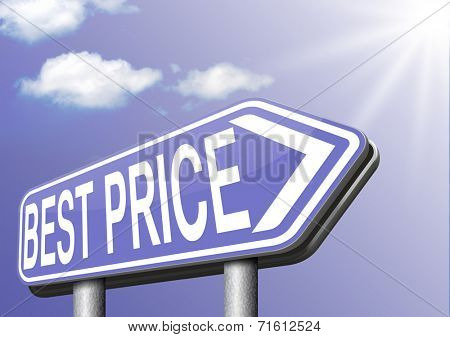 best price webshop shopping promotion road sign arrow lowest bargain and sale promotion prices and major reduction