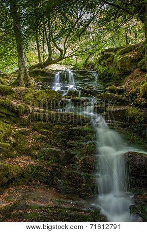 Waterfalls on Scottish Stream